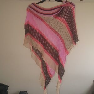 Super cute old navy multi color poncho!